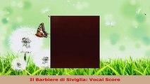 Download  Il Barbiere di Siviglia Vocal Score EBooks Online