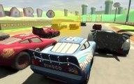 Cars Fast as Lightning - Dinoco McQueen VS Lightning McQueen vs Batmobile - Race