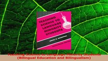 Download  Teaching Science to Language Minority Students Bilingual Education and Bilingualism PDF Online