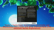 Read  Todays Technician Automotive Electricity and Electronics Classroom and Shop Manual Pack Ebook Free