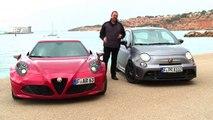Alfa Romeo 4C & Abarth 695 Biposto Fiat 500 Test Drive GERMAN