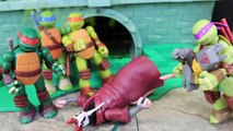 Ninja Turtles Mutations Donatello Replaces Splinter Broken Arms with Metal Head Arms Toy Review