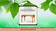 Read  Connoisseurship of Chinese Furniture Ming and Early Qing Dynasties EBooks Online