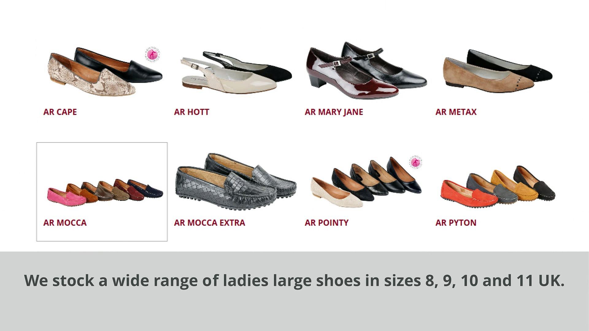 Ladies Large Shoes – Women's Large & Plus Size Boots | Ladies Size 8, 9, 10 & 11 Shoes