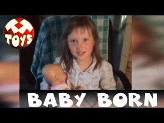 Кукла Baby Born. Девочка Merike Рассказывает про свою Игрушку. Моя Любимая Игрушка