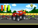 ✔ Monster Truck on the track! Races in city if cars. Truck for children!