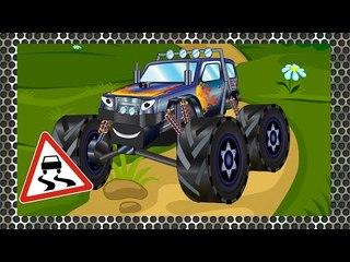 ✔ Compilation of Monster Trucks Cars. Cartoons for children. Full Episodes - 60 Minutes