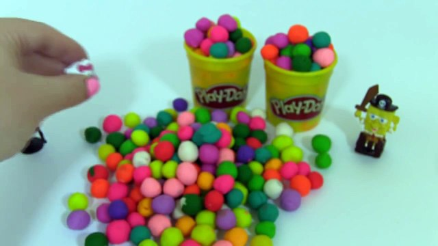 Play Many Play Doh Surprise Balls Disney Princess Hello Kitty Peppa Pig Masha i Medved Playing