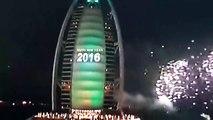 Crazy New Year Fireworks at Burj ul Arab Dubai