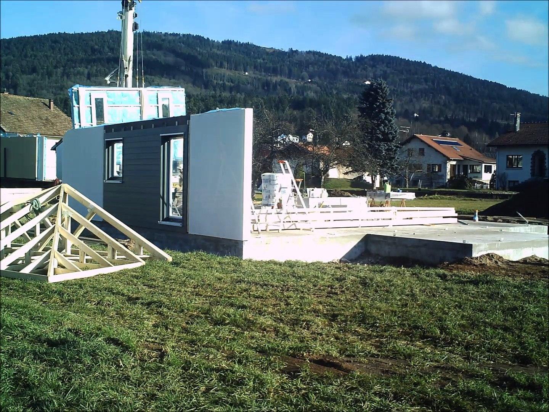 Maison Ossature Bois Vosges chantier maison individuelle socopa à le syndicat (vosges)
