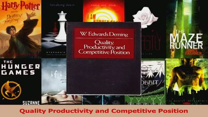 PDF Download  Quality Productivity and Competitive Position Download Full Ebook