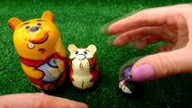 Winnie the Pooh & Friends Surprise UNBOXING Demo! Piglet, Eeyore,Tigger Matryoshka doll!