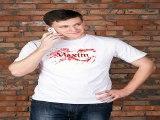 Наконец-то!Купил подарок на именины - Футболка мужская с вашим текстом Кровавая футболка в г. Омск