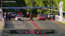 Nissan GT R AMS Alpha 12 vs Porsche 911 Turbo Proto R911