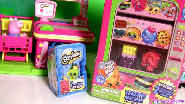 SHOPKINS VENDING MACHINE Disney Frozen Princess Anna Shopping with George From Peppa Pig N