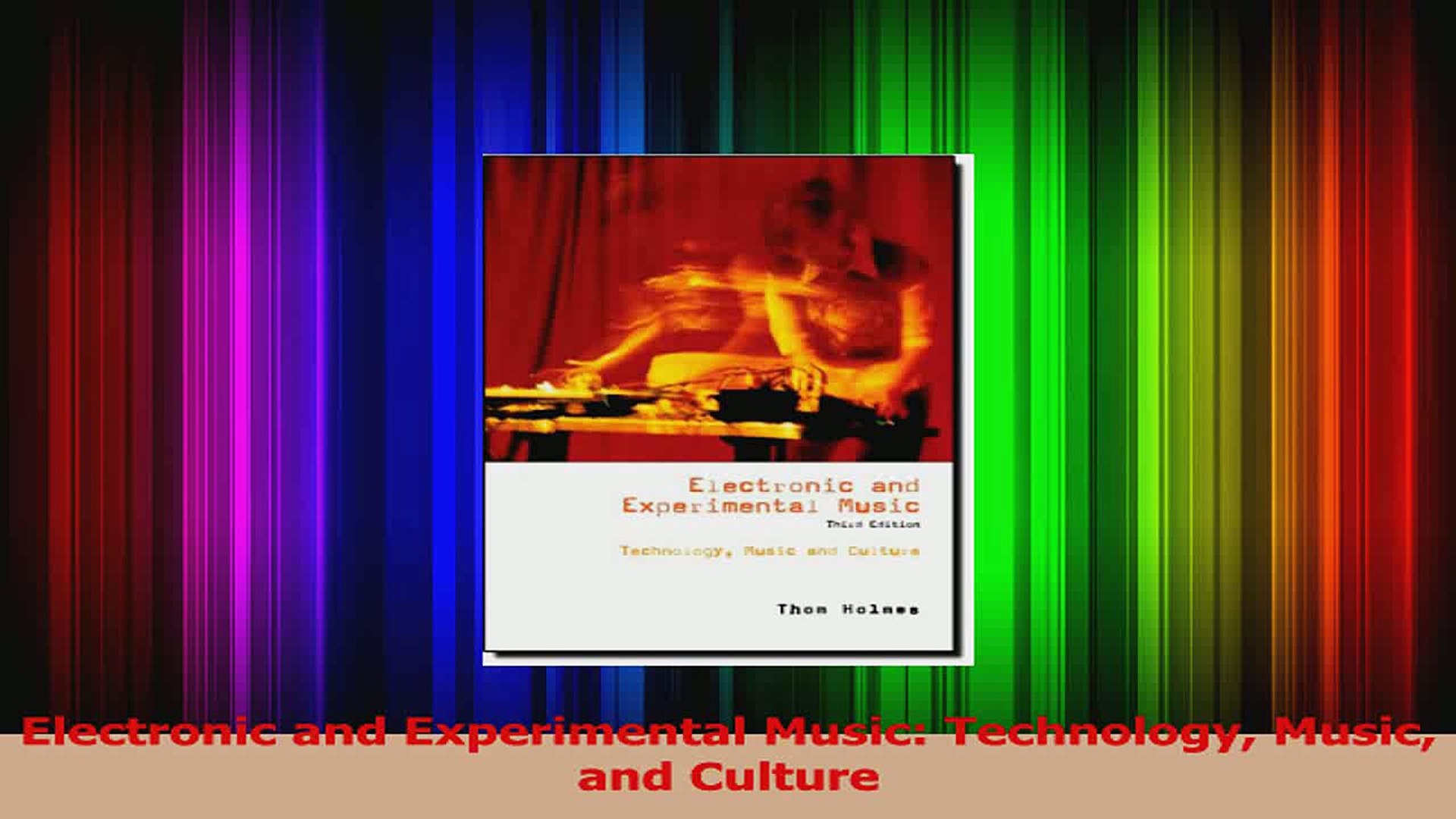 PDF Download  Electronic and Experimental Music Technology Music and Culture Download Online