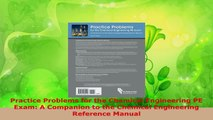 Download  Practice Problems for the Chemical Engineering PE Exam A Companion to the Chemical Ebook Free