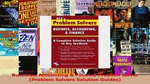 PDF Download  Business Accounting  Finance Problem Solver Problem Solvers Solution Guides Read Full Ebook