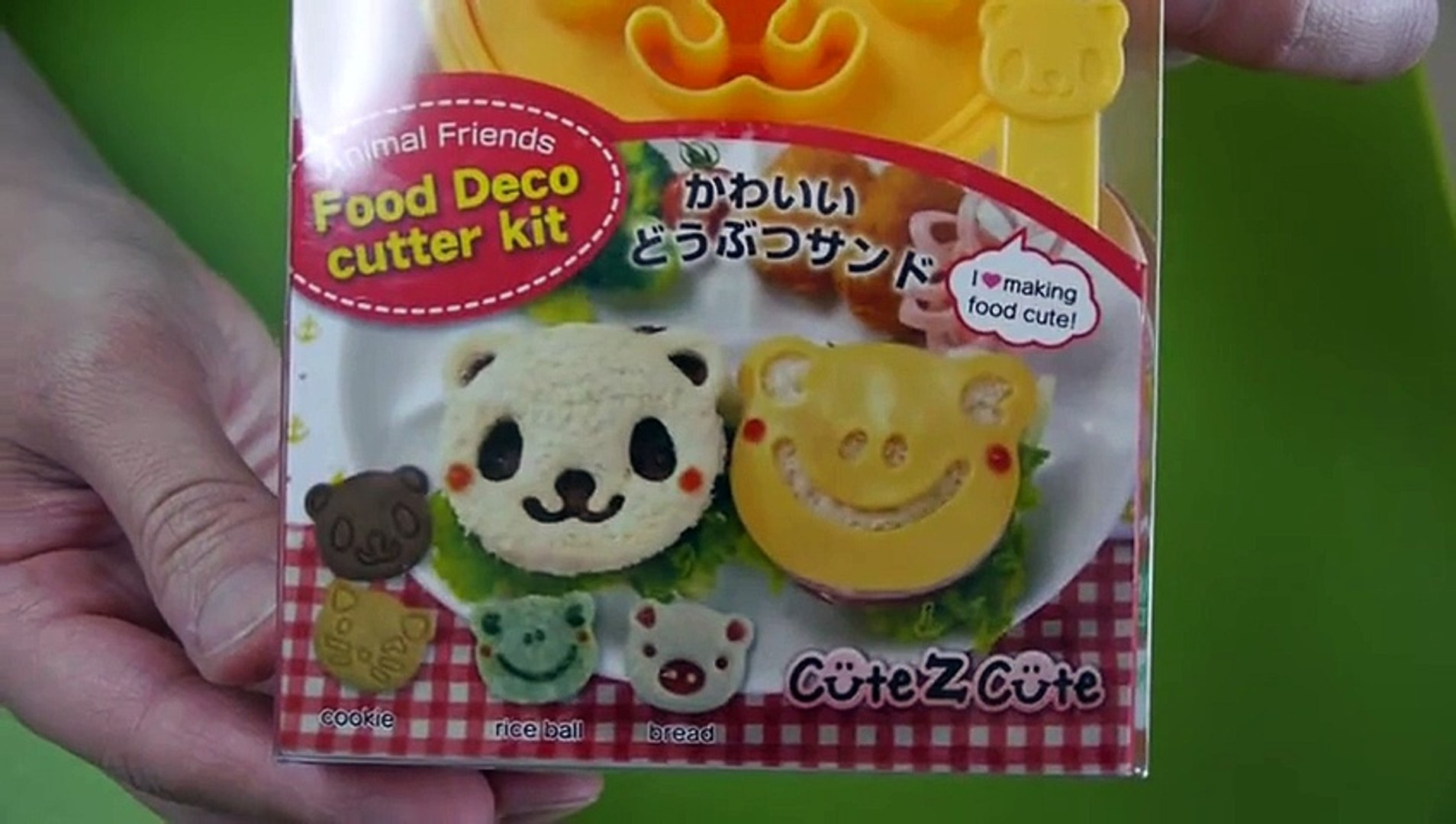 Animal Bread with ORIGAMI KABUTO - Animal Friends Food Deco Cutter Kit 動物パン 折り紙 カブト