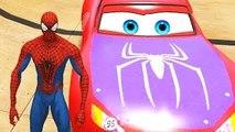Spiderman Disney Cars Lightning McQueen Custom Pixar Nursery Rhymes ( Songs for