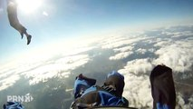 GoPro Skydiver Gets His Shoe Stolen During Skydive