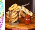 Round Chip Fryer Food Presentation Basket 7.5cm x 12 - Mini Fryer Basket Mini Frying Baskets