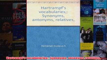 Hartrampfs vocabularies Synonyms antonyms relatives