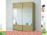 Lyon 2 Door Mirrored Sliding Wardrobe - Oak