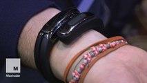 Helix Cuff Bluetooth wearable headphones you keep around your wrist
