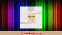 PDF Download  Choral Repertoire PDF Full Ebook