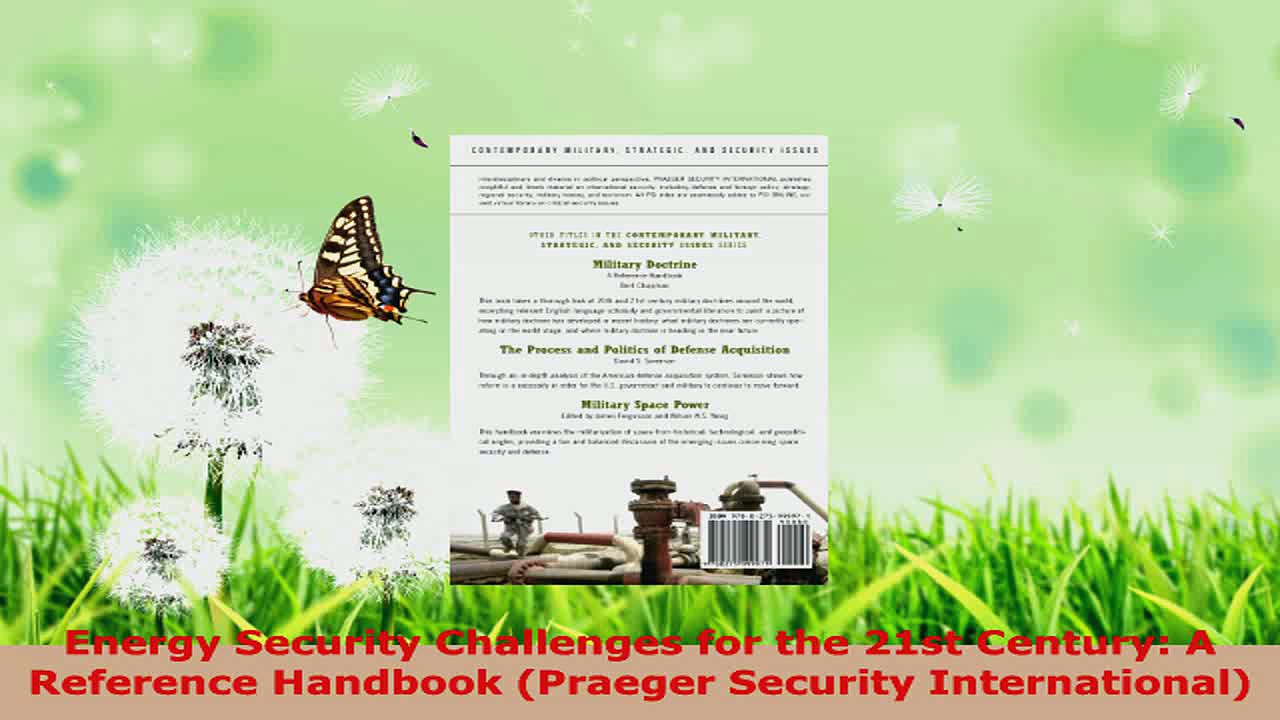 Download  Energy Security Challenges for the 21st Century A Reference Handbook Praeger Security Ebook Online