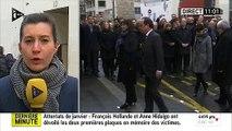 Honte - Charlie Hebdo: Le nom de Georges Wolinski mal orthographié sur la plaque d'hommage dévoilée ce matin par Hollande - Regardez