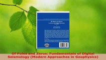 Read  Of Poles and Zeros Fundamentals of Digital Seismology Modern Approaches in Geophysics PDF Online