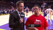 Lakers Fan Wins $95K with Half-Court Shot | Suns vs Lakers | January 3, 2016 | NBA 2015-16 Season