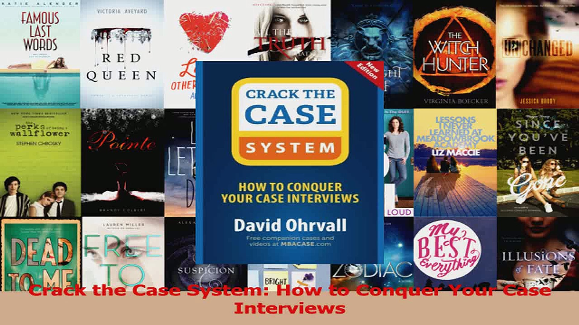 crack the case pdf david ohrvall