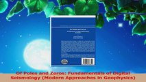 Read  Of Poles and Zeros Fundamentals of Digital Seismology Modern Approaches in Geophysics EBooks Online