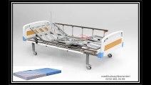 2 motorlu hasta karyolası abs başlıklı tabanca korkuluklu ev tipi hasta yatağı ve hastane yatakları