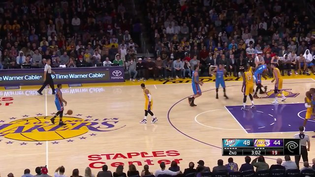 Kevin Durant Crosses Up Kobe Bryant | Thunder vs Lakers | December 23, 2015 | NBA 2015-16 Season