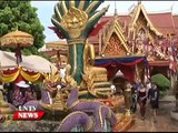 Lao NEWS on LNTV  Pi Mai Lao is a time for Lao people to wish and forgive 10 4 2015