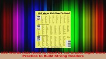PDF Download  100 Words Kids Need to Read by 1st Grade Sight Word Practice to Build Strong Readers Download Online