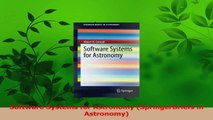 PDF Download  Software Systems for Astronomy SpringerBriefs in Astronomy Download Online