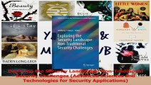 PDF Download  Exploring the Security Landscape NonTraditional Security Challenges Advanced Sciences Read Online
