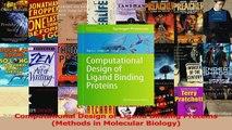 PDF Download  Computational Design of Ligand Binding Proteins Methods in Molecular Biology Download Online