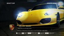 NFS11 - start-up, first run free roam, Porsche Boxter Spyder