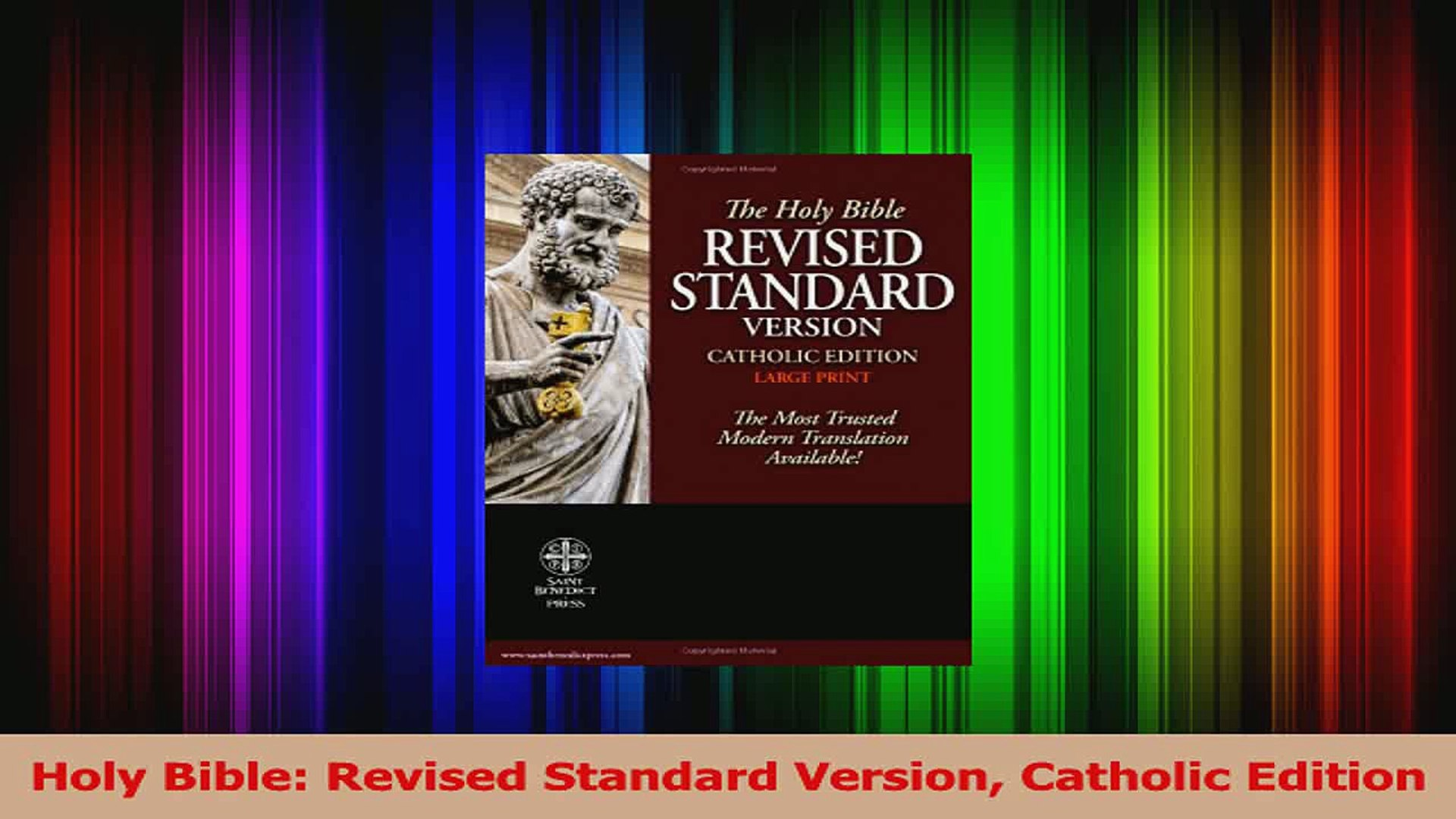 Pdf Download Holy Bible Revised Standard Version Catholic Edition Online Video Dailymotion New Free