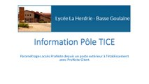 Information Pôle TICE