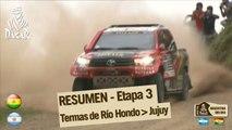 Resumen de la etapa 3 - Coche/Moto - (Termas Rio Hondo / Jujuy)