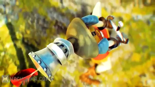Rabid Rabbits Raving Rabbids Travel in Time Excalibur Trailer Rabbits and Excalibur