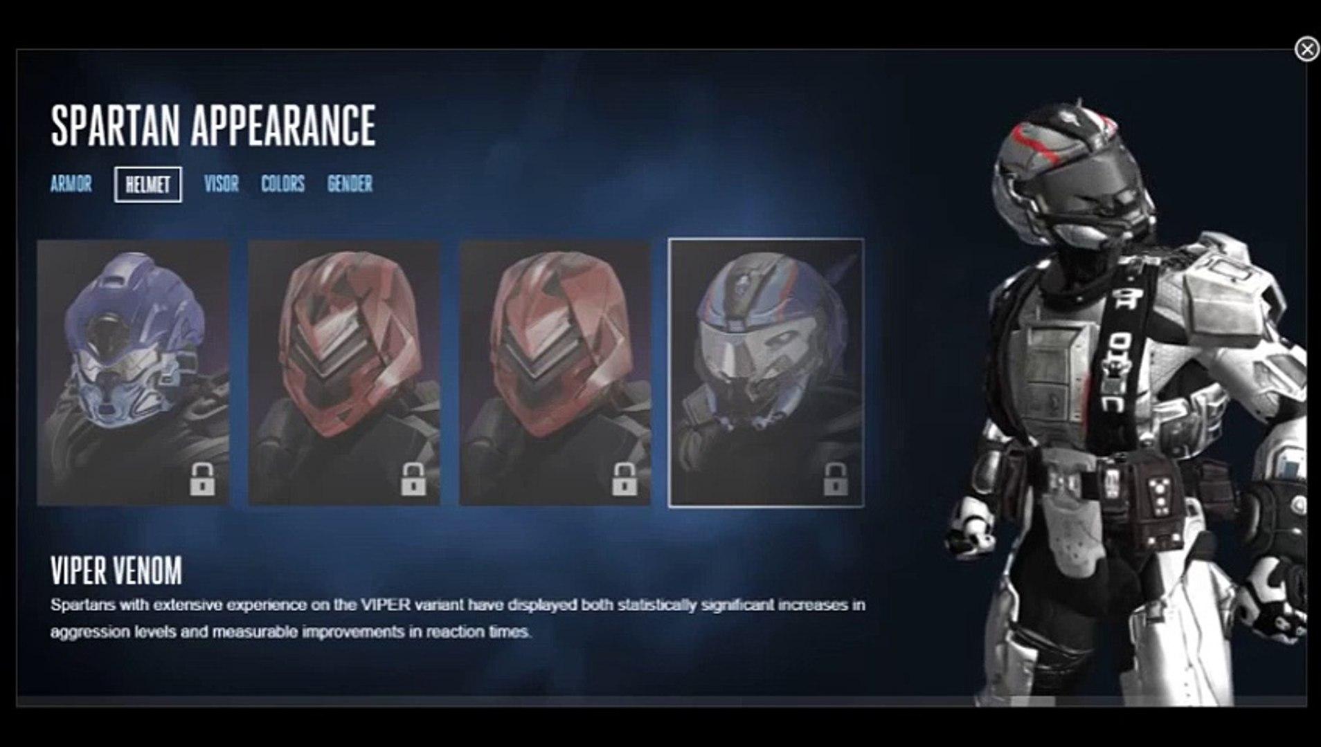Halo 5 Customization Helmets Venator Video Dailymotion