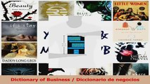 PDF Download  Dictionary of Business  Diccionario de negocios PDF Full Ebook